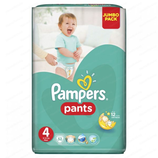 Pampers Памперс гащи Active baby JP Maxi р-р 4 /8-14кг/ 52 бр. 0202425